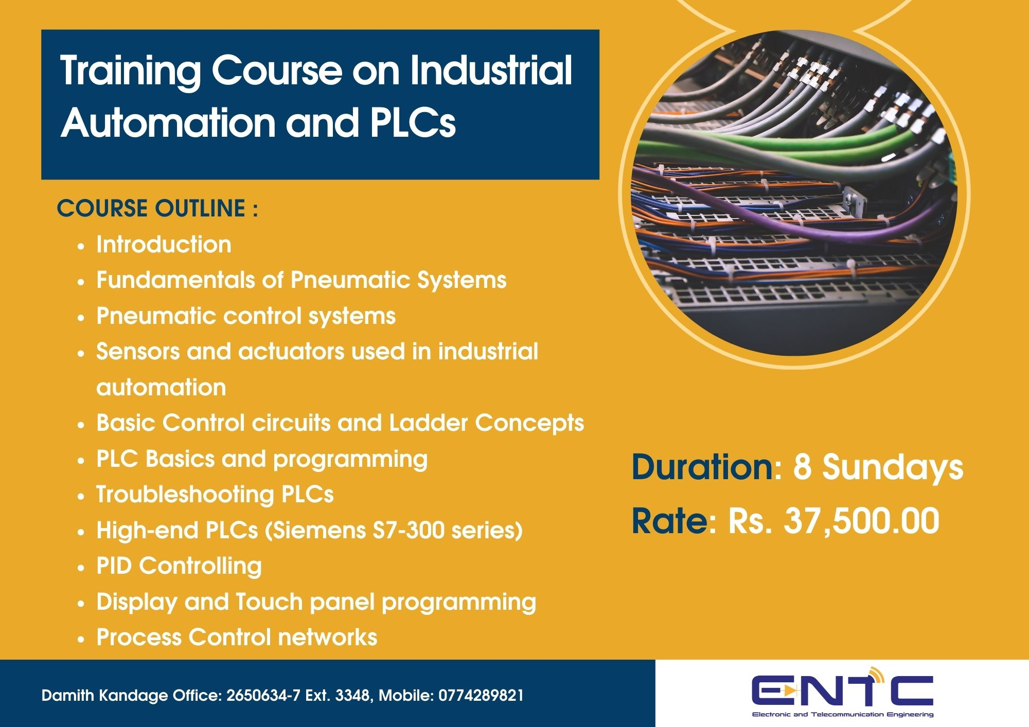 training course on industrial automation and plcs